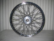 "21"" x 2.15 - 60 spoke single disc wide glide wheel"