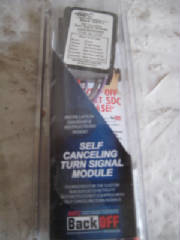 Self Canceling Signal Module - SDC - good for customs without self canceling signals - 7s,20s,75s can use  -- incandescent or led, weatherproof - designed for use with individual monetary=-type turn signal switches mounted on &R bars, **will not work on models with lL&R turn signal switch built in to one unit that requires push to cancel --- TR 480992