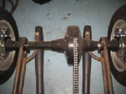 Trike axle with 4 piston caliipers