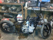 Suzuki GS750 Hardtail Conversion